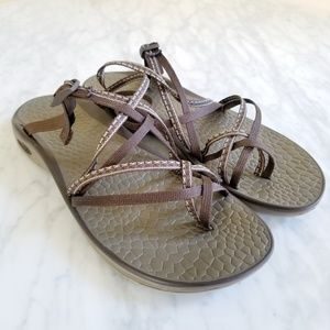 Chaco Sandals Stitch Brown Women Size 10